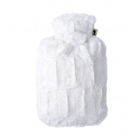 Bouillotte fourrure moelleuse crème HUGO FROSCH