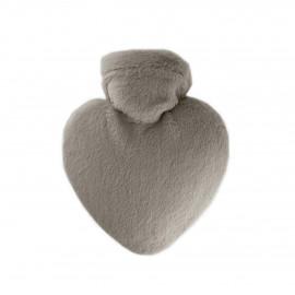 Bouillotte Hugo Frosch thermoplastique en forme de cœur avec housse en polaire